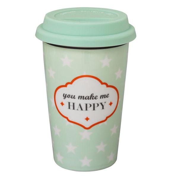 Travel Mug Becher You Make Me Happy