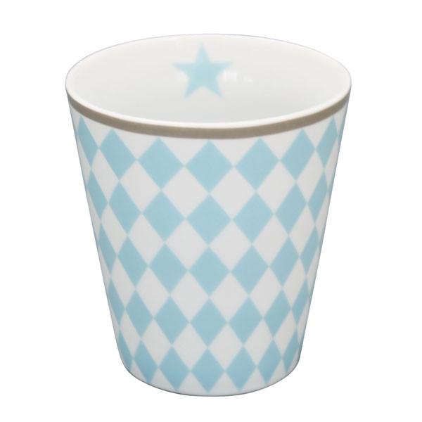 Happy Mug Becher Blue Harlekin
