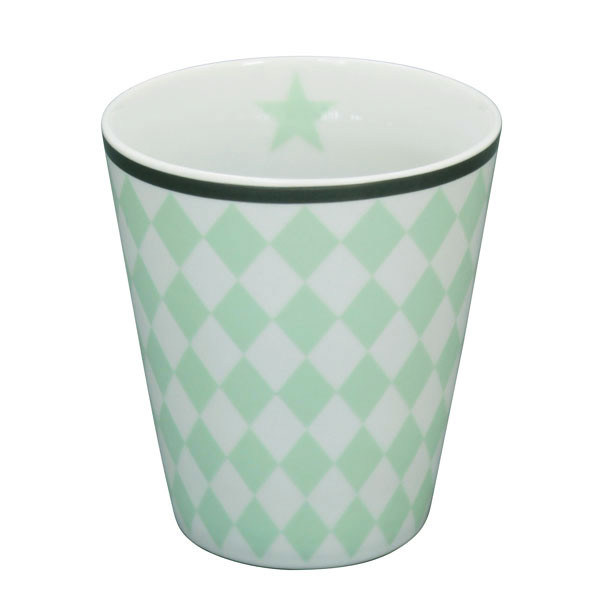 Happy Mug Becher Minty Harlekin