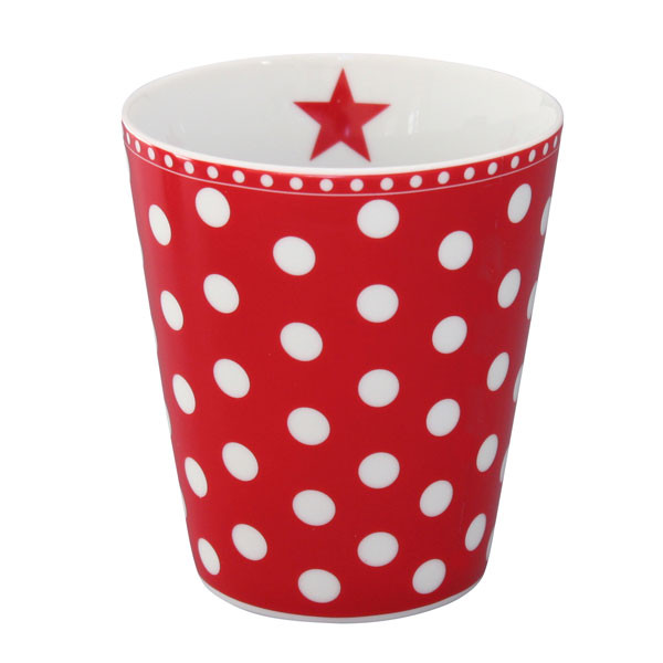 Happy Mug Becher New Dot Red