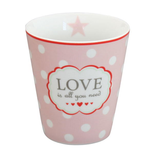 Happy Mug Becher Love Is All You Need