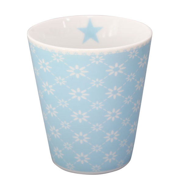 Happy Mug Becher Diagonal Baby Blue