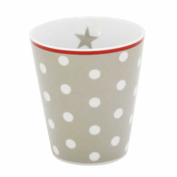 Happy Mug Becher Taupe Dot