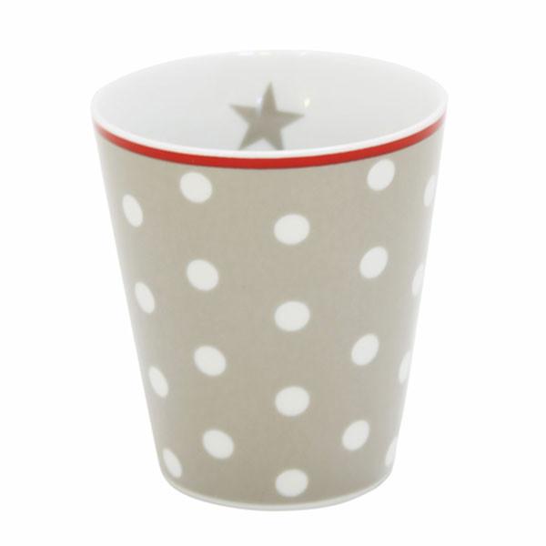 Happy Mug Becher Taupe Dot