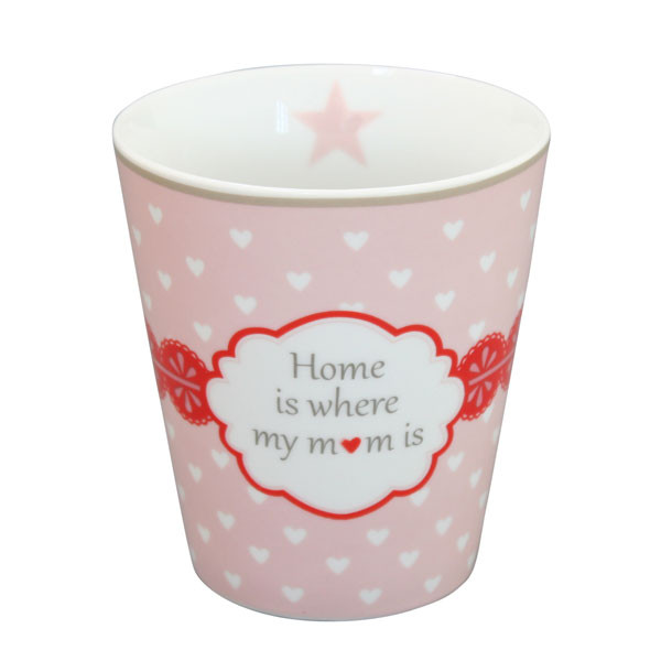 Happy Mug Becher Home Is Where My Mom Is